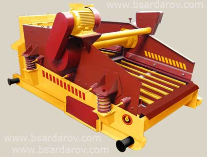 Vibrating screen of the ВС-1 type