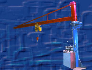 Rotary cranes of the KП-2, KПБ-3M and 12KП3У types